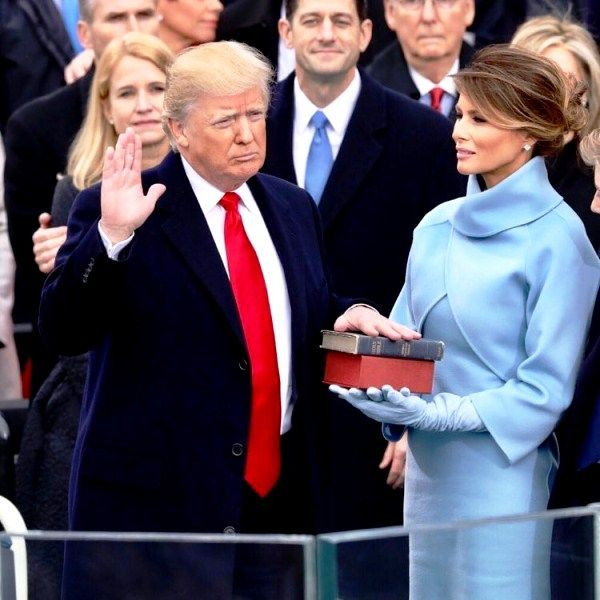 Donald Trump taking oath as the President of the United States