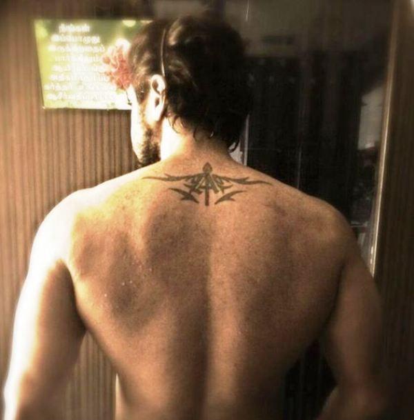 Arun Vijay's Tattoo Near to His Neck
