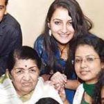 Poorvi Koutish With Lata Mangeshkar