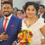 Abish Methew with his wife Arcahna Kavi
