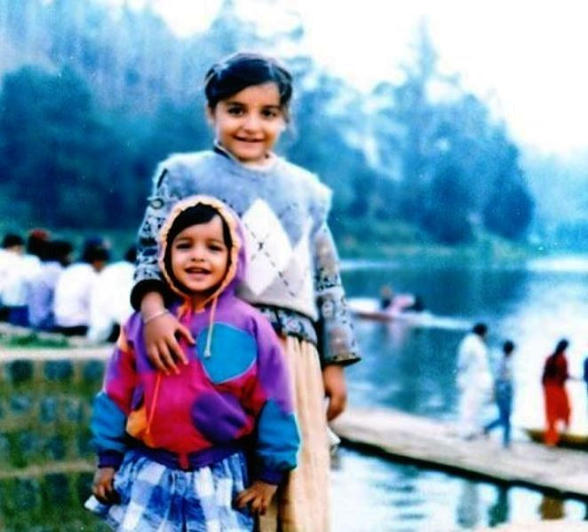 A Childhood Picture of Lisa Mishra and Her Sister