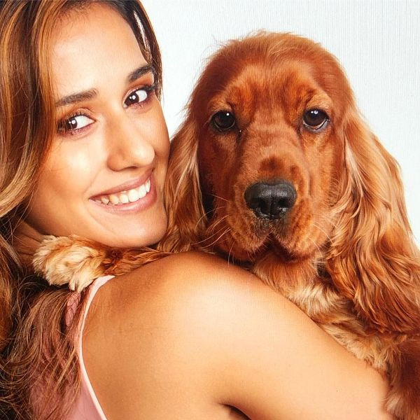 Disha Patani With Her Pet Dog