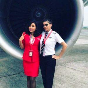 Ankita Konwar as an Air Hostess