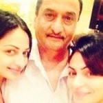 Rubina Bajwa with her father and sister Neeru Bajwa