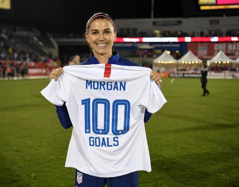 Alex Morgan Celebrating Her 100th Goal