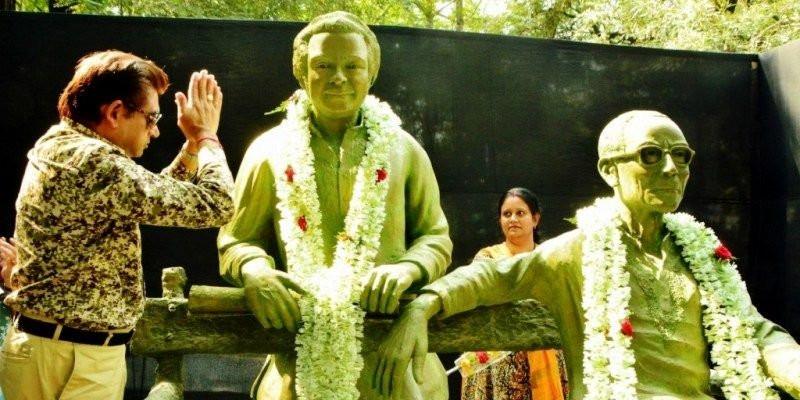 S. D. Burman and Kishore Kumar's Statue