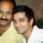 Vishal Singh with his father