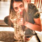Dolly Sharma cat lover