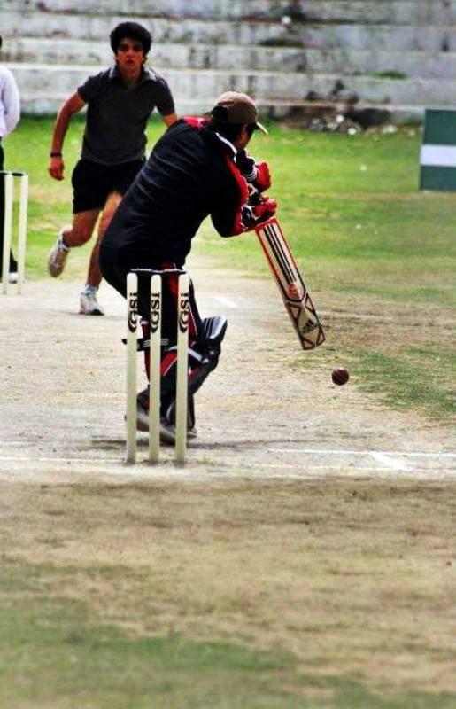 Ashwini Koul playing cricket