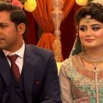 Sarfraz Ahmed with his wife