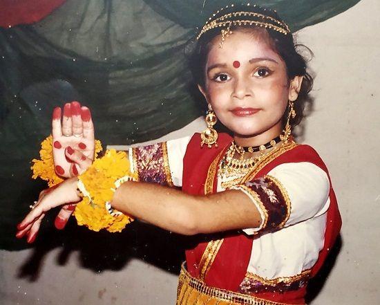 Samvedna Suwalka childhood picture of dancing