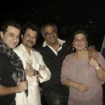 Sanjay Kapoor with his siblings