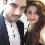 Amal Sehrawat with his wife Neha