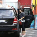 Sandra Bullock out of his Mercedes