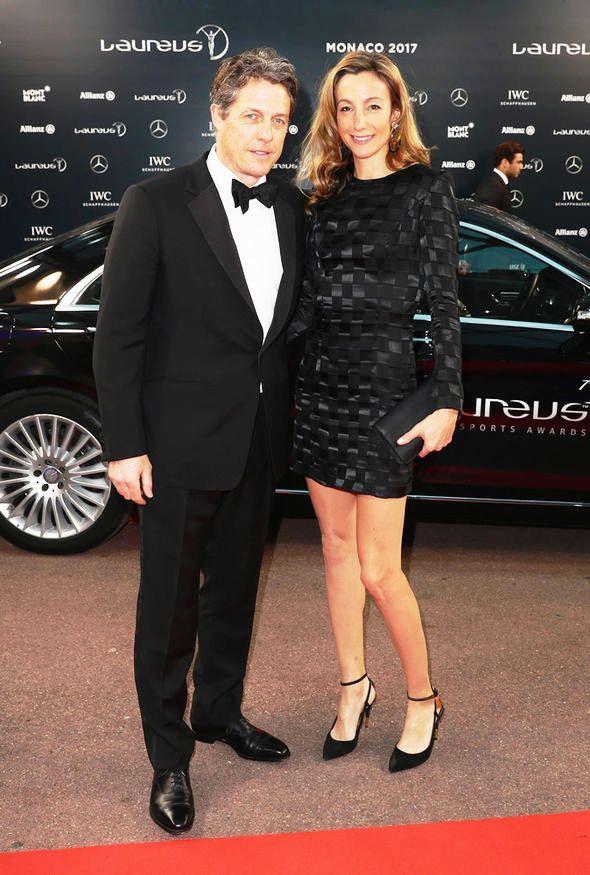 Anna Eberstein with Hugh Grant