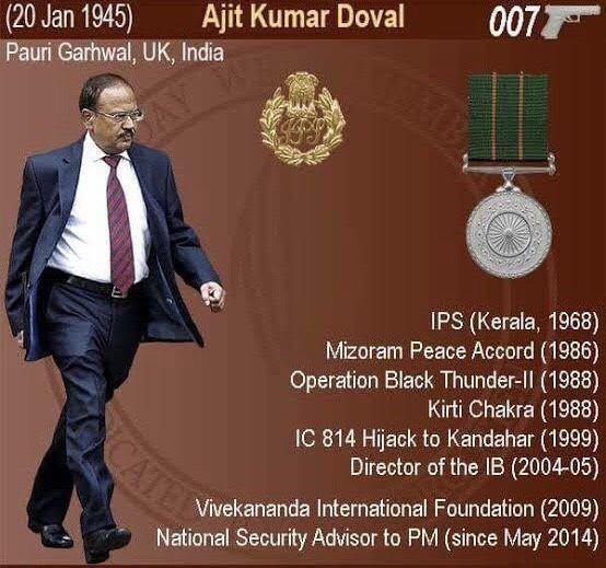 Achievements of Ajit Doval