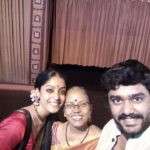Abhirami Venkatachalam with her mother and brother