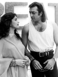 Sanjay Dutt With Madhuri Dixit
