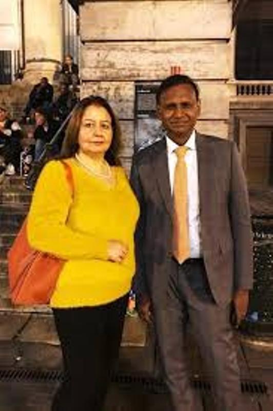 Udit Raj with Seema Raj