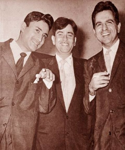Dilip Kumar With Dev Anand And Raj Kapoor