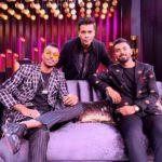 Hardik Pandya on the set of 'Koffee with Karan'