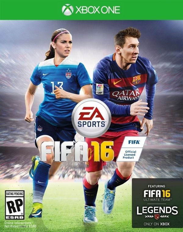 Alex Morgan And Lionel Messi On The Cover Of XBOX One