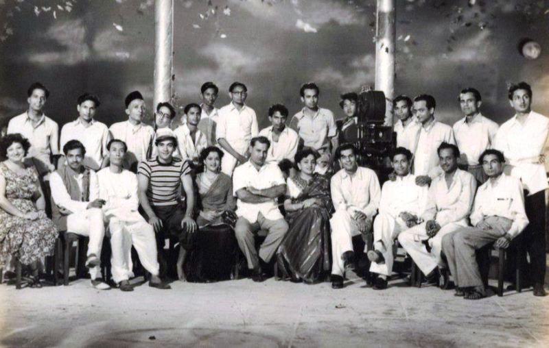 S. D. Burman on a Movie Set