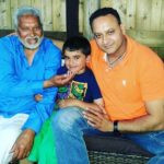 Rana Ahluwalia with his father and son