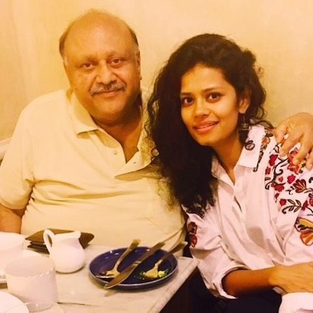 Palomi Ghosh with her father
