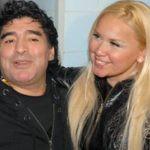 Diego Maradona with his ex-girlfriend Veronica Ojeda