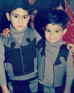 Ali Abbas Zafar in his childhood with his older brother