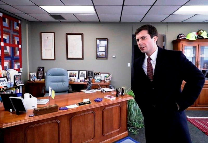 Pete Buttigieg in The Mayor Office of South Bend