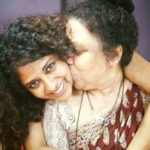 Poornima with her mother