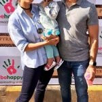 Khushboo with her husband & daughter