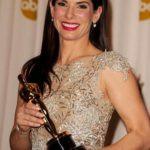 Sandra Bullock receiving Oscar