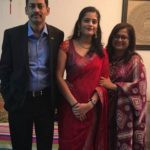 Meghna Srivastava With Her Parents