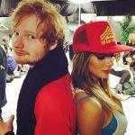 Nicole Scherzy and Ed sheeran