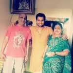 Rohit Sharma with his parents