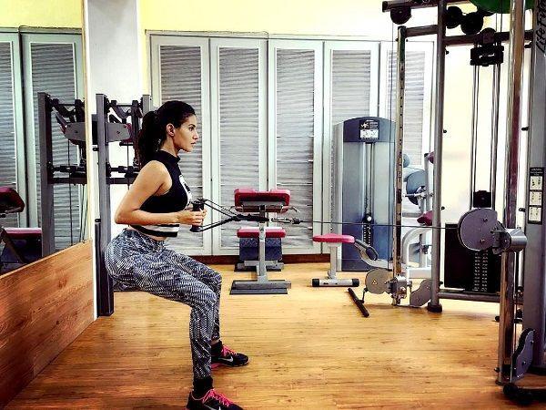 Amyra Dastur at a Gym