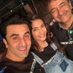 Sonam Kapoor With Ranbir Kapoor At The Sets Of Sanju