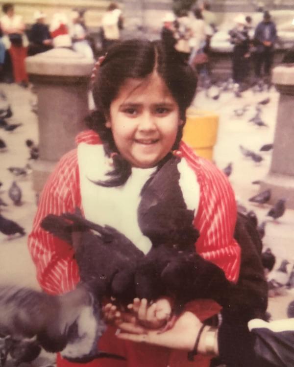 Ekta Kapoor in her childhood
