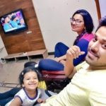 Nandu with his wife and daughter