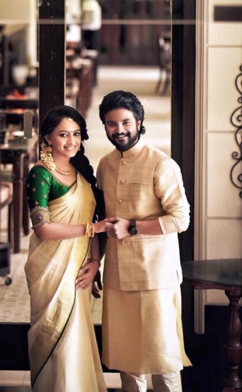 Neeraj Madhav with His Wife