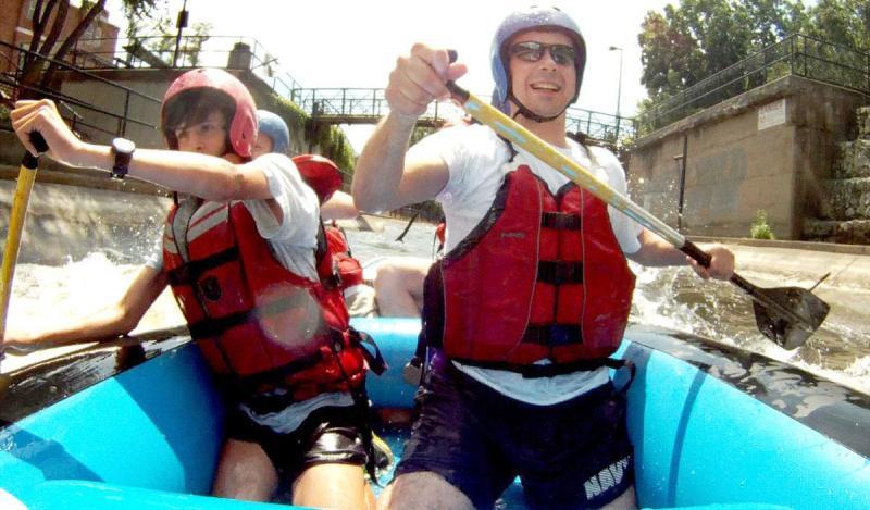 Pete Buttigieg Doing Rafting