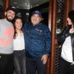 Diego Maradona with his two illegitimate children