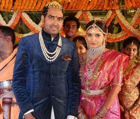 Director Krish's with his wife