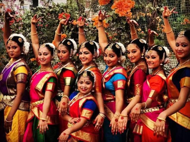 Gauri Ingawale with her Bharatanatyam team