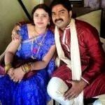 Pawan Singh with his wife Neelam Singh
