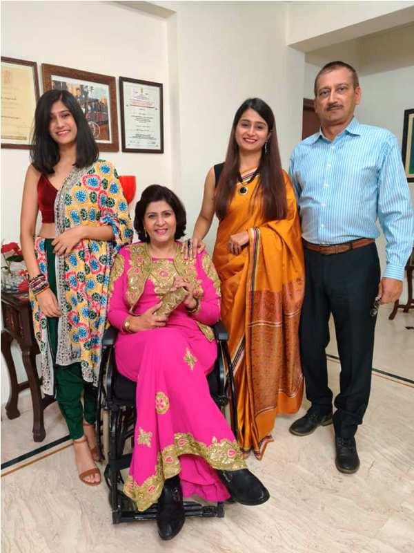Deepa Malik with Her Family