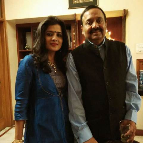 Neha Batham with her father